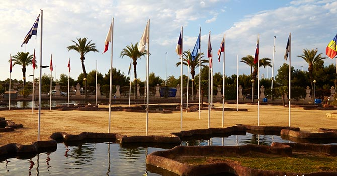 Flags at the Park of nations