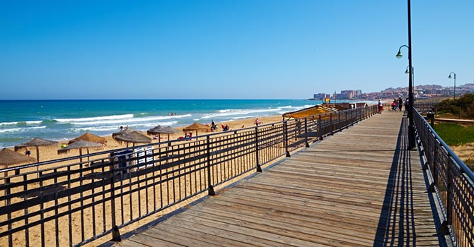 Boardwalk at La Mata Torrevieja