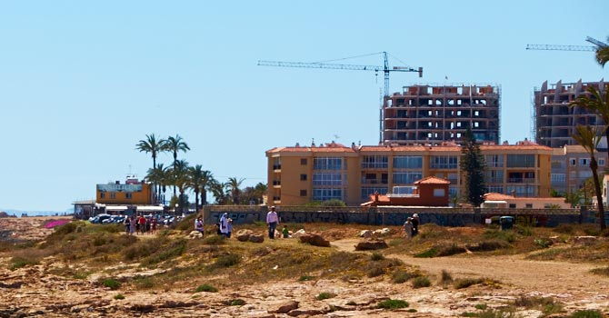 Cranes over Torrevieja Buildings